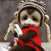 Куклы и игрушки ручной работы. Ярмарка Мастеров - ручная работа Обезьянка Кроха. Handmade.