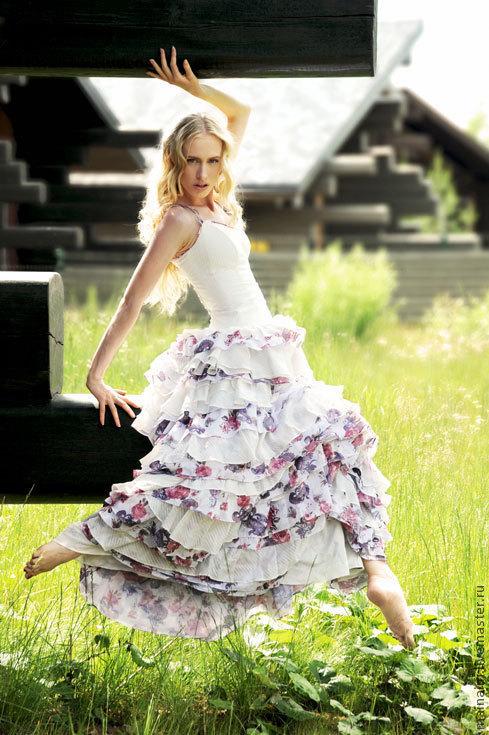 Одежда и аксессуары ручной работы. Ярмарка Мастеров - ручная работа. Купить свадебное платье из хлопка. Handmade. Свадьба, платье