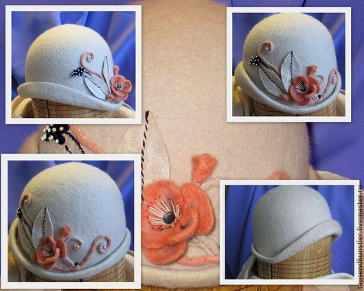 """Шляпы ручной работы. Ярмарка Мастеров - ручная работа. Купить Дамская шляпка """"Пепел воспоминаний"""". Handmade. Серый"""