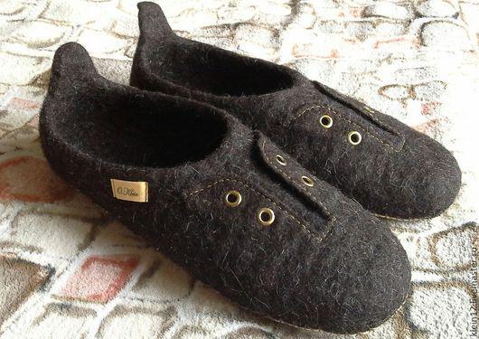 """Обувь ручной работы. Ярмарка Мастеров - ручная работа. Купить """"45-тый растоптатый""""....  Большие размеры на заказ.. Handmade. Коричневый"""