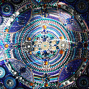 Картины и панно handmade. Livemaster - original item Picture of rhinestone Starry sky in explanation of the pattern of the kaleidoscope. Handmade.