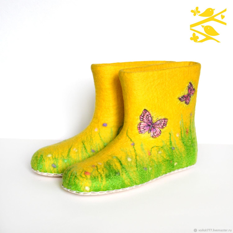 "Домашние валенки ""Бабочки"", Тапочки, Старый Оскол,  Фото №1"