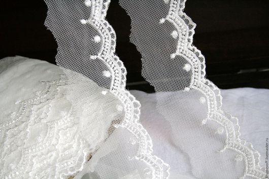 Шитье ручной работы. Ярмарка Мастеров - ручная работа. Купить № 90  Кружевное шитье на сетке.. Handmade. Молочный цвет