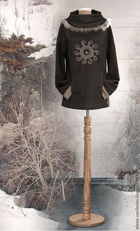 Кофты и свитера ручной работы. Ярмарка Мастеров - ручная работа. Купить Джемпер Северное солнце. Handmade. Бежевый, теплый джемпер