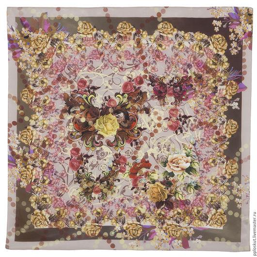 Шитье ручной работы. Ярмарка Мастеров - ручная работа. Купить 10165-2  павловопосадский шелковый платок. Handmade. Комбинированный