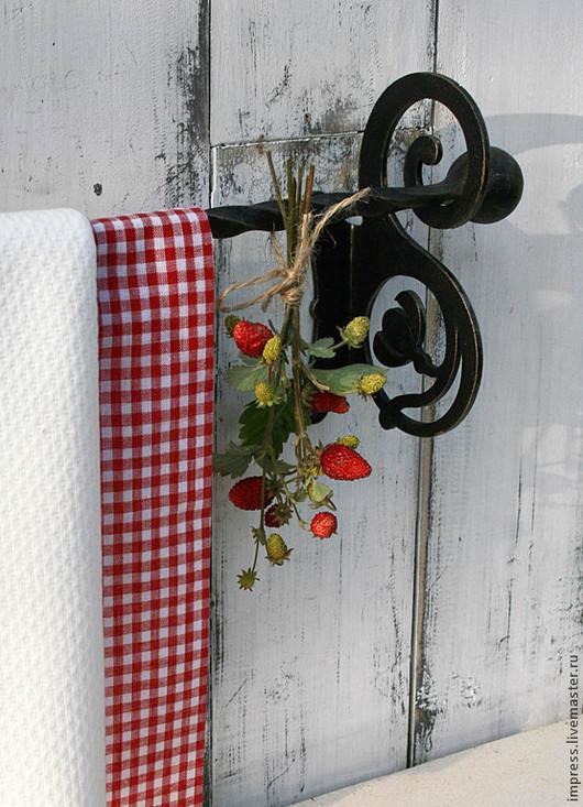 Экстерьер и дача ручной работы. Ярмарка Мастеров - ручная работа. Купить Вешалка для полотенец Модерн с одной штангой. Handmade. ванная