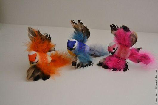 Птички 8 см на прищепке -  55 руб. В наличии только розовые!
