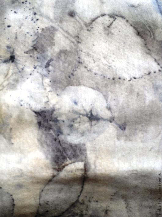 """Платья ручной работы. Ярмарка Мастеров - ручная работа. Купить Природно - окрашенная туника """"Графичность"""". Handmade. Платье, эко-принт"""