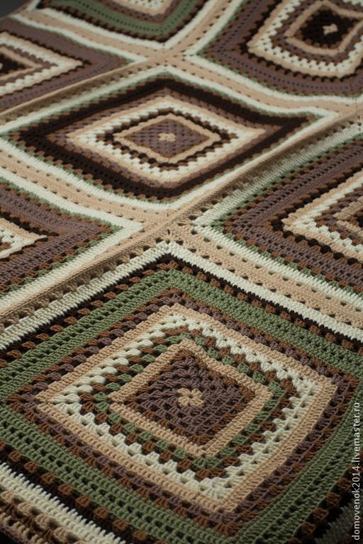 Текстиль, ковры ручной работы. Ярмарка Мастеров - ручная работа. Купить Плед. Handmade. Плед, карамель, зимний