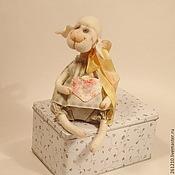Куклы и игрушки ручной работы. Ярмарка Мастеров - ручная работа Овечка Агнесса. Символы 2015 : Овца и Коза. Handmade.