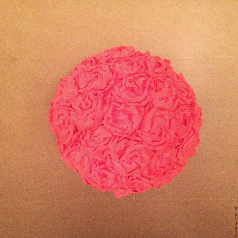 Сделать шар из гофрированной бумаги своими руками фото