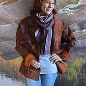 """Одежда ручной работы. Ярмарка Мастеров - ручная работа куртка """"Пустыня после дождя.Терракот"""". Handmade."""