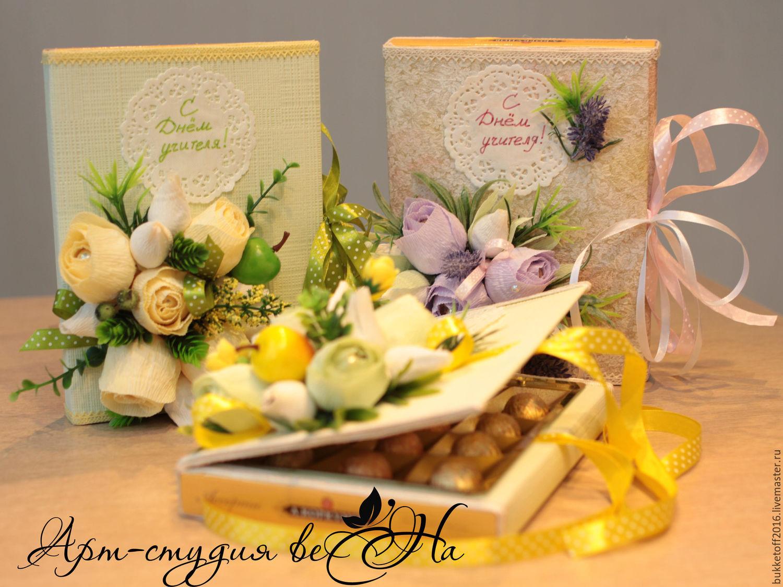 Оформление конфет в подарок учителю