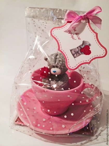 """Мыло ручной работы. Ярмарка Мастеров - ручная работа Мыло ручной работы  """" мишка Тедди в кружке"""". Handmade."""