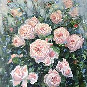 Картины и панно handmade. Livemaster - original item Oil painting Delicate roses impressionism of the author`s picture. Handmade.
