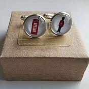 Украшения handmade. Livemaster - original item Cufflinks are silver plated the Sights of London. Handmade.