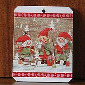 Сувениры и подарки handmade. Livemaster - original item Interior panel with dwarves. Handmade.