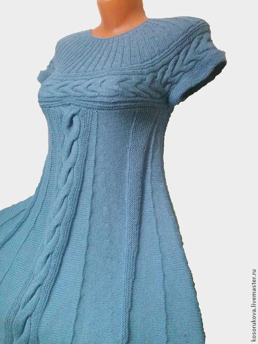 """Платья ручной работы. Ярмарка Мастеров - ручная работа. Купить Платье """"Незабудка"""". Handmade. Голубой, платье на заказ, 40% полиакрил"""