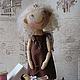 Человечки ручной работы. Ярмарка Мастеров - ручная работа. Купить ВАСИЛИСА  текстильная кукла. Handmade. Коричневый, конфета, текстильная кукла