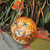 Сувениры и подарки handmade. Livemaster - original item Leopard Leo Ball tumbler musical Toy podarak. Handmade.