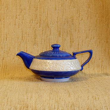 """Посуда ручной работы. Ярмарка Мастеров - ручная работа Чайник """"васильковый"""". Handmade."""
