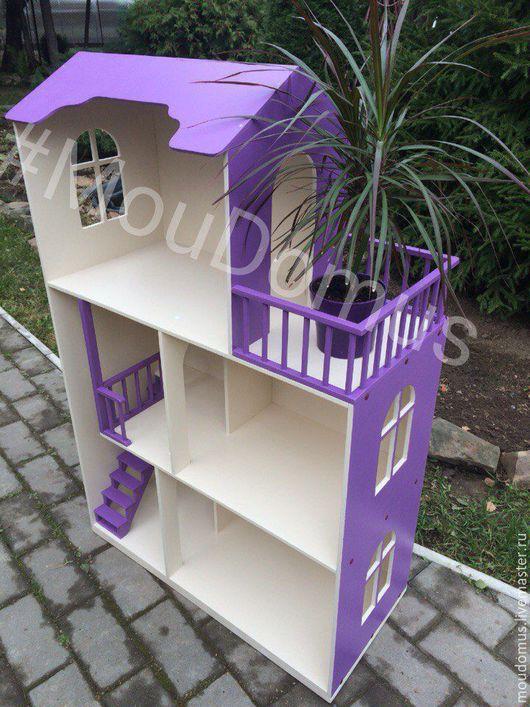 Кукольный дом ручной работы. Ярмарка Мастеров - ручная работа. Купить кукольный домик №20. Handmade. Фиолетовый