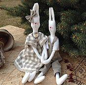 Куклы и игрушки handmade. Livemaster - original item Jean and Josephine. WEDDING RABBITS. Handmade.