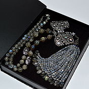 Украшения handmade. Livemaster - original item Necklace made of natural labradorite. VINTAGE BOW. Author`s work.. Handmade.