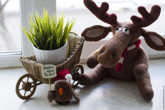 Игрушки животные, ручной работы. Ярмарка Мастеров - ручная работа. Купить Лосямба. Handmade. Подарок на новый год, игрушка в подарок