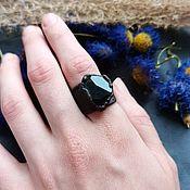 Украшения handmade. Livemaster - original item Copper ring with yellow tourmaline. Handmade.