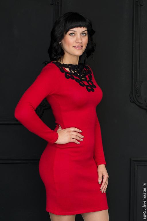 Платья ручной работы. Ярмарка Мастеров - ручная работа. Купить Платье Ягода малина. Handmade. Ярко-красный, модное платье