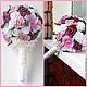 Свадебные цветы ручной работы. Розовая сказка. ShapaLena. Интернет-магазин Ярмарка Мастеров. Невеста, букет невесты, букет из ткани