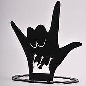 """Для дома и интерьера ручной работы. Ярмарка Мастеров - ручная работа подставка под кольца """"Рука"""". Handmade."""