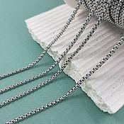 Материалы для творчества handmade. Livemaster - original item 1 m Chain 2x2x1. 5636 mm steel (). Handmade.