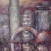 """Картины и панно ручной работы. Ярмарка Мастеров - ручная работа Картина """"Night & the City"""". Handmade."""