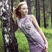 Одежда handmade. Livemaster - original item Felted dress Summer evening