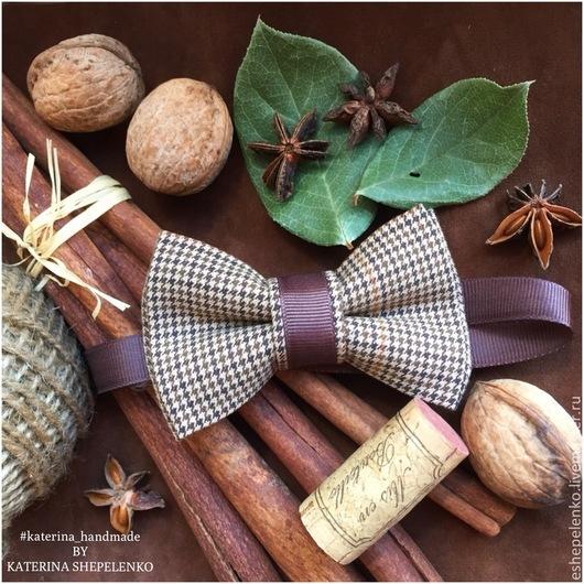 Галстуки, бабочки ручной работы. Ярмарка Мастеров - ручная работа. Купить Галстук бабочка в клетку (на заказ). Handmade.