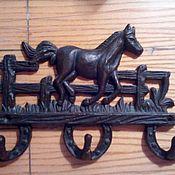 """Для дома и интерьера ручной работы. Ярмарка Мастеров - ручная работа вешалка чугунная """"Лошадь"""". Handmade."""