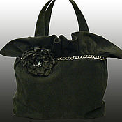 Сумки и аксессуары handmade. Livemaster - original item Bag made of suede.