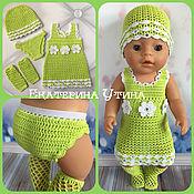 Одежда для кукол ручной работы. Ярмарка Мастеров - ручная работа Одежда для baby born (комплект с платьем). Handmade.