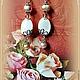 """Серьги ручной работы. Заказать серьги овальные  """"Жемчуг цвета нежной розы"""". svetlana-tok. Ярмарка Мастеров. красивые серьги"""