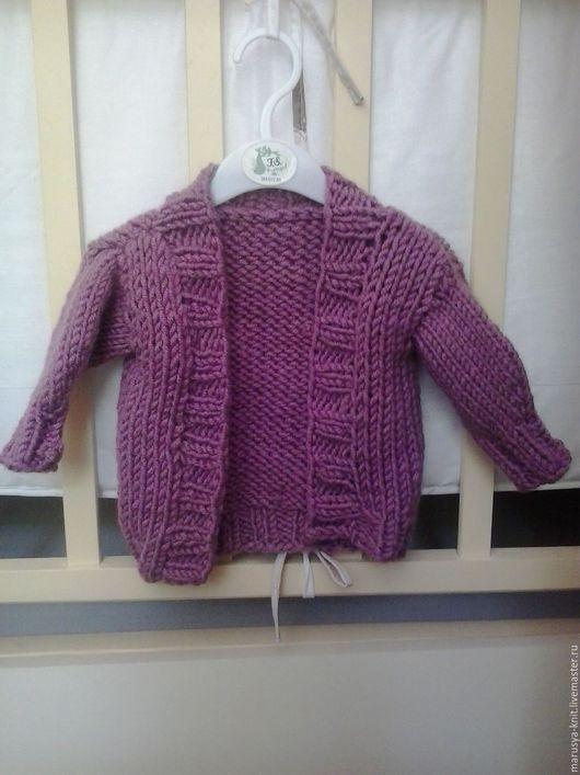 Одежда для девочек, ручной работы. Ярмарка Мастеров - ручная работа. Купить Детский кардиган. Handmade. Брусничный, женский кардиган