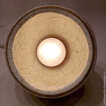 Для дома и интерьера ручной работы. Ярмарка Мастеров - ручная работа Керамический светильник «Шар с косичкой». Handmade.