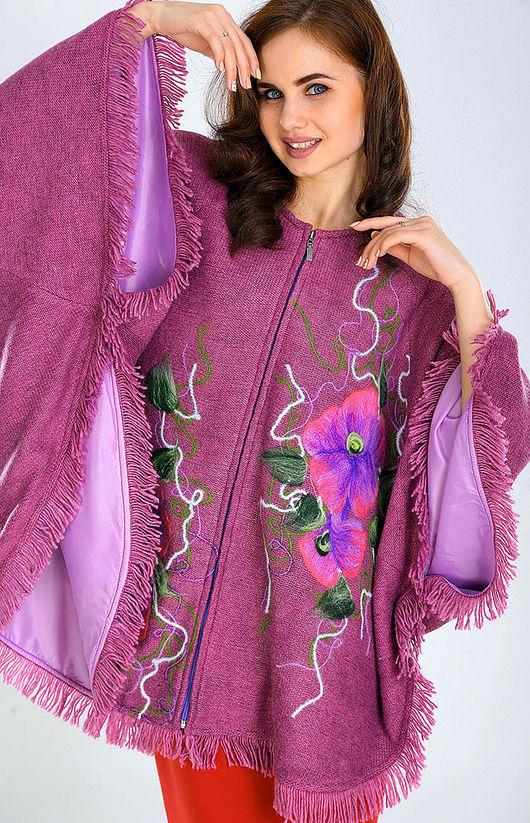 Верхняя одежда ручной работы. Ярмарка Мастеров - ручная работа. Купить ППЖ 08. Handmade. Цветочный, сухое фильцевание