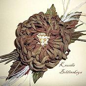 Украшения ручной работы. Ярмарка Мастеров - ручная работа хризантема. Handmade.