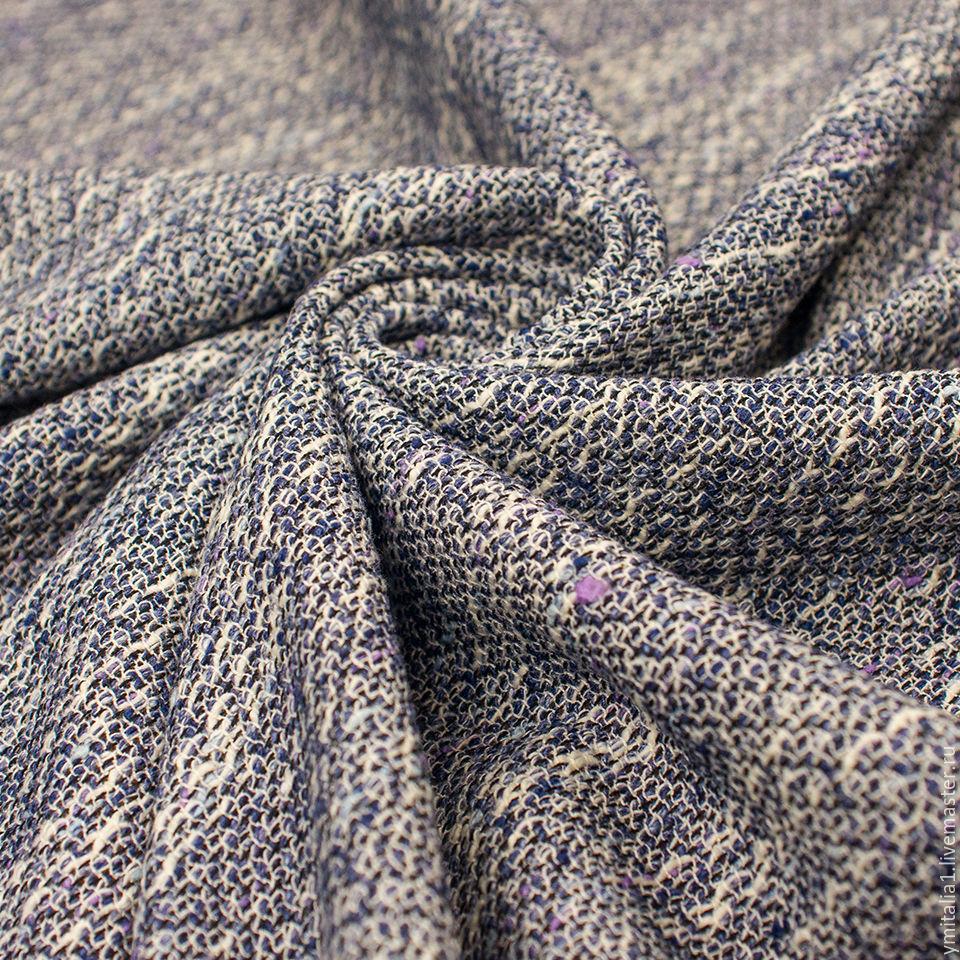 Рогожка хлопковая костюмная ткань chanel cине-серая, Шитье, Москва, Фото №1