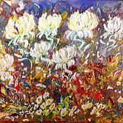 Картины и панно handmade. Livemaster - original item In the garden in the spring. Mixed media.. Handmade.