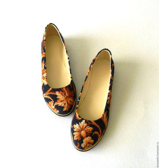 """Обувь ручной работы. Ярмарка Мастеров - ручная работа. Купить балетки """"роскошь"""". Handmade. Комбинированный, эксклюзивная обувь, нитки мулине"""