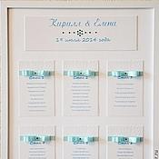 """Свадебный салон ручной работы. Ярмарка Мастеров - ручная работа План рассадки гостей """"Tiffany"""". Handmade."""