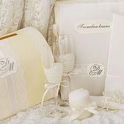 Свадебный салон ручной работы. Ярмарка Мастеров - ручная работа Свадебное оформление в цвете айвори. Handmade.